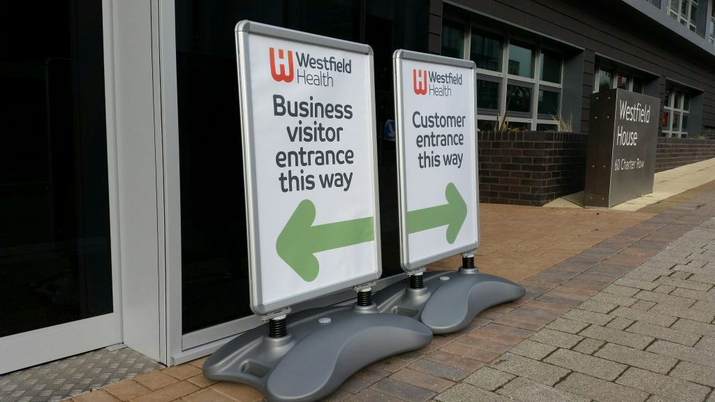 A1 A-Boards with waterproof posters