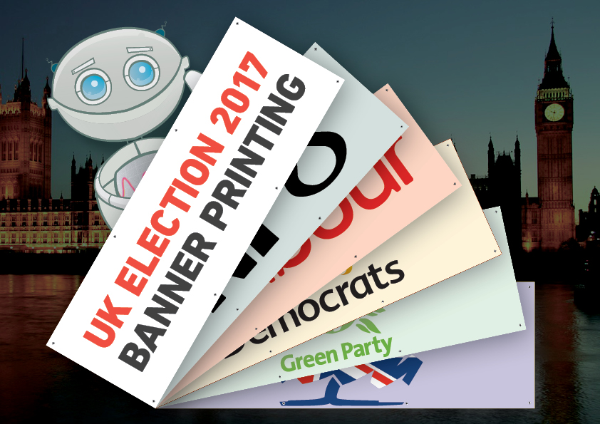 Banners for marketing an election campaign