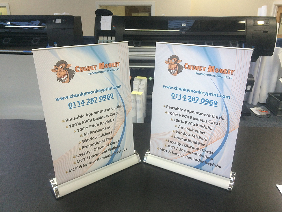 Retractable Table Top Banner