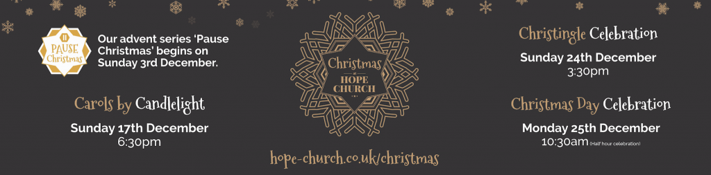 hope church christmas banner