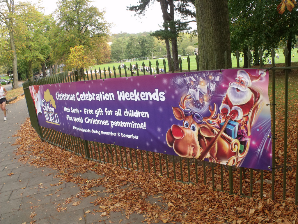 This Christmas, deck the halls with printed banners