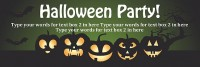 Green Halloween Party Banner
