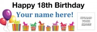 birthday banner with photo