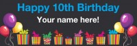 10th Birthday Banner Black