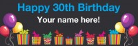 30th birthday banner black