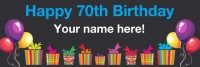 70th Birthday Banner Black