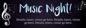 Music Night Banner