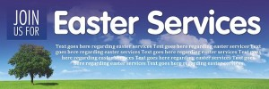 Easter Services Banner