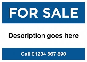 A2 Blue For Sale Sign