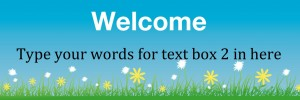 Grass banner blue theme