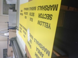 custom sized correx signs