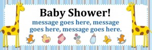 Blue Baby Shower Banner